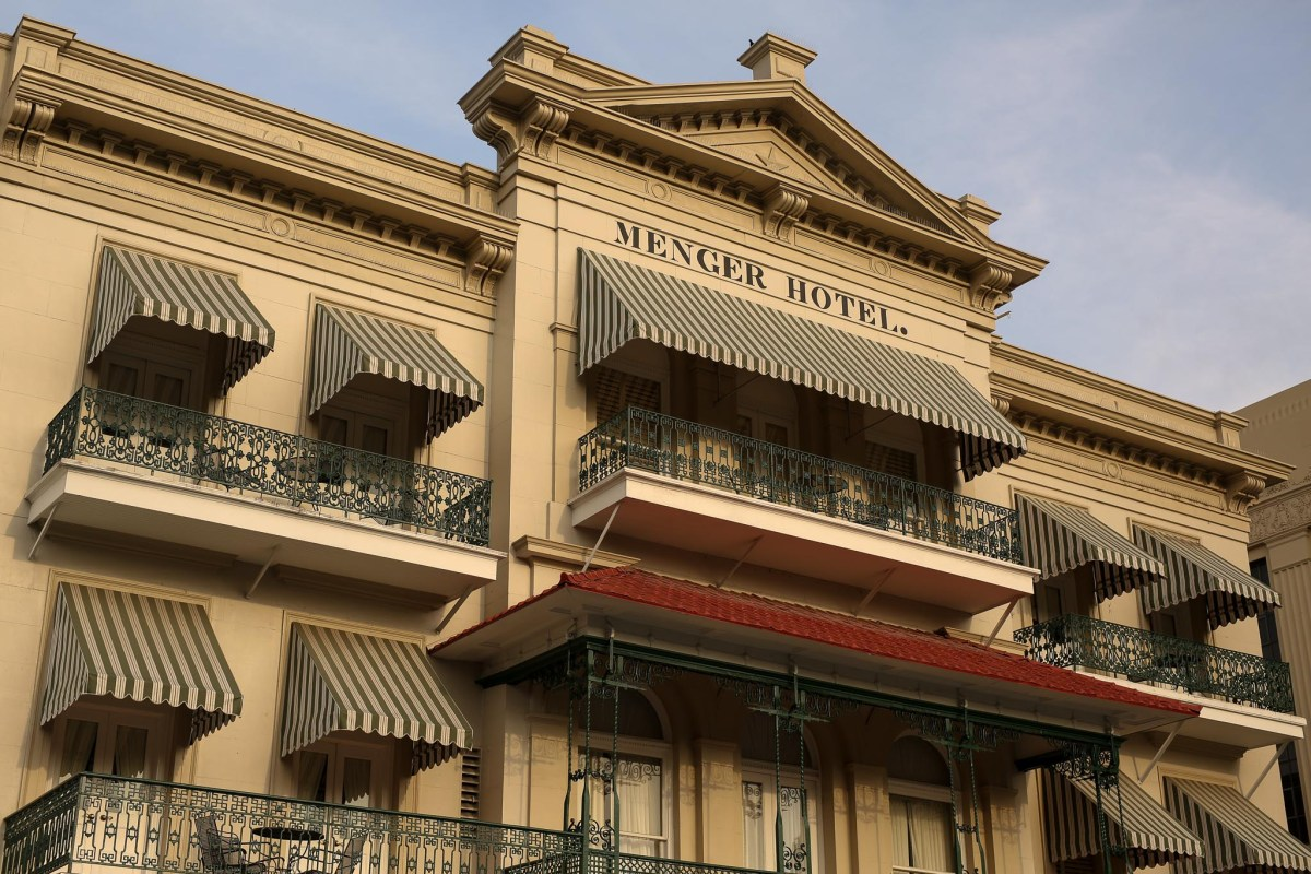 The Menger Hotel at Alamo Plaza. The Menger Hotel at Alamo Plaza.