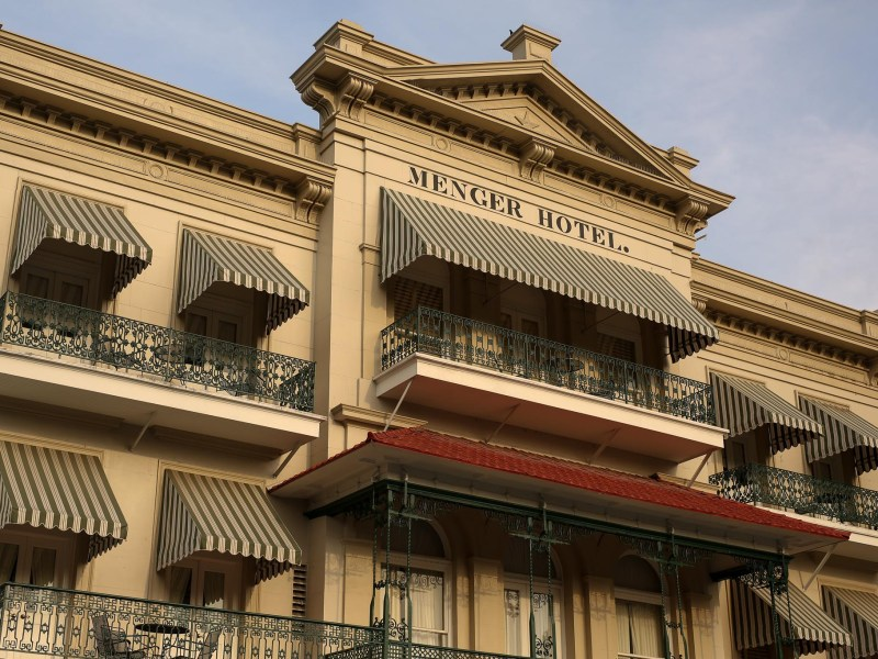 The Menger Hotel at Alamo Plaza. The Menger Hotel at Alamo Plaza.