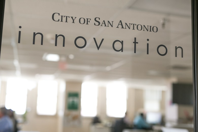 The City of San Antonio Innovation office is located in the Municipal Plaza building at Main Plaza.