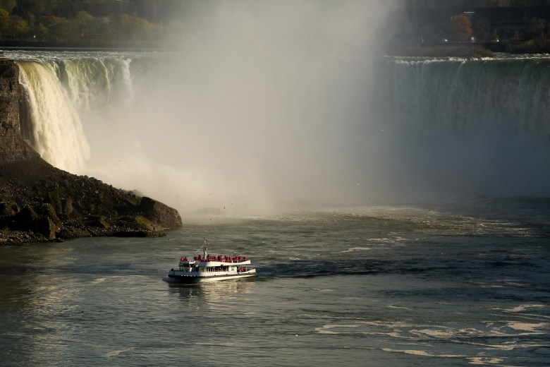 The Niagra Falls 'Hornblower' gives tourists a firsthand look at the destination.