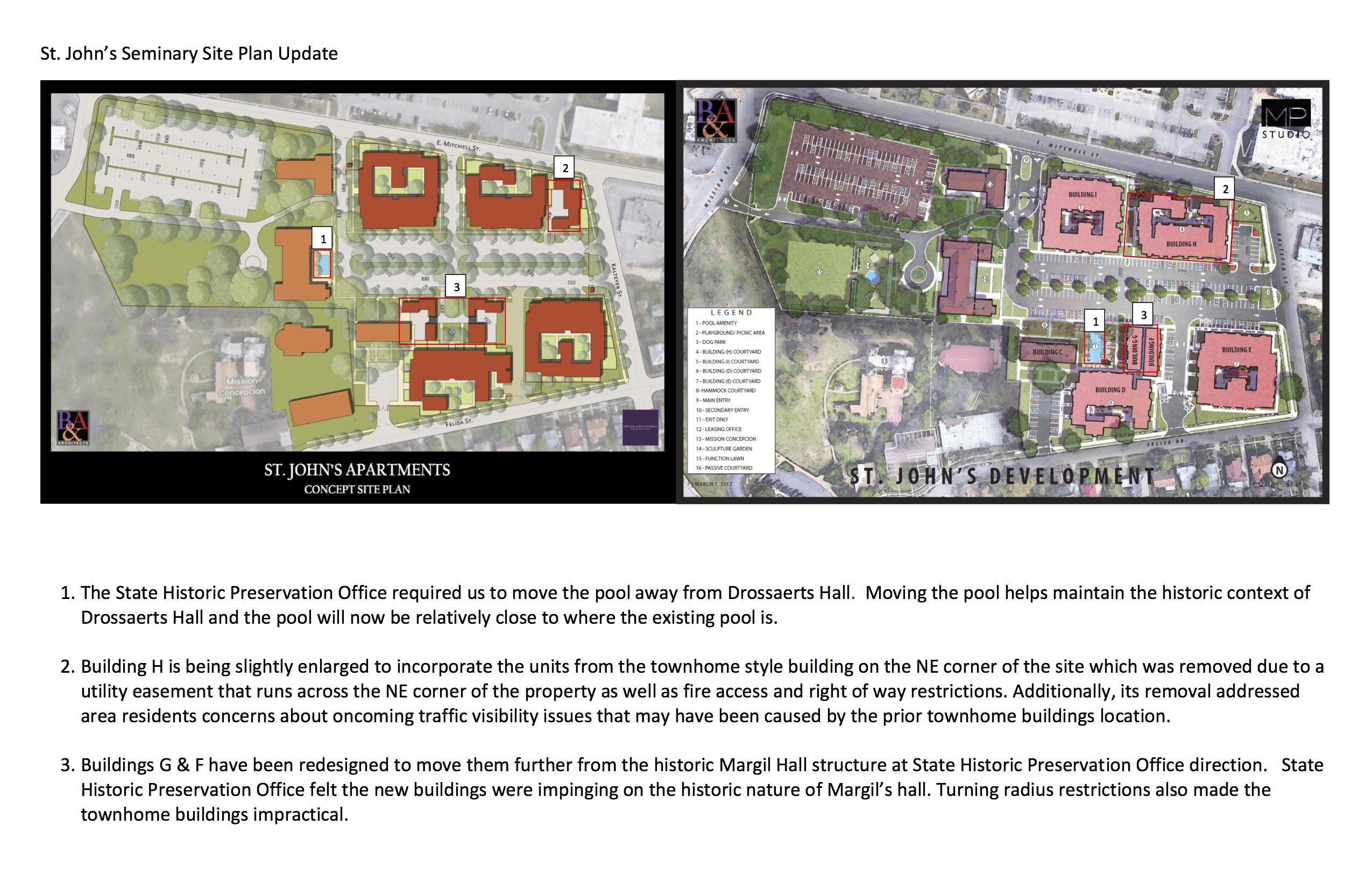 Updated site plans were submitted to the city by 210 Development Group.