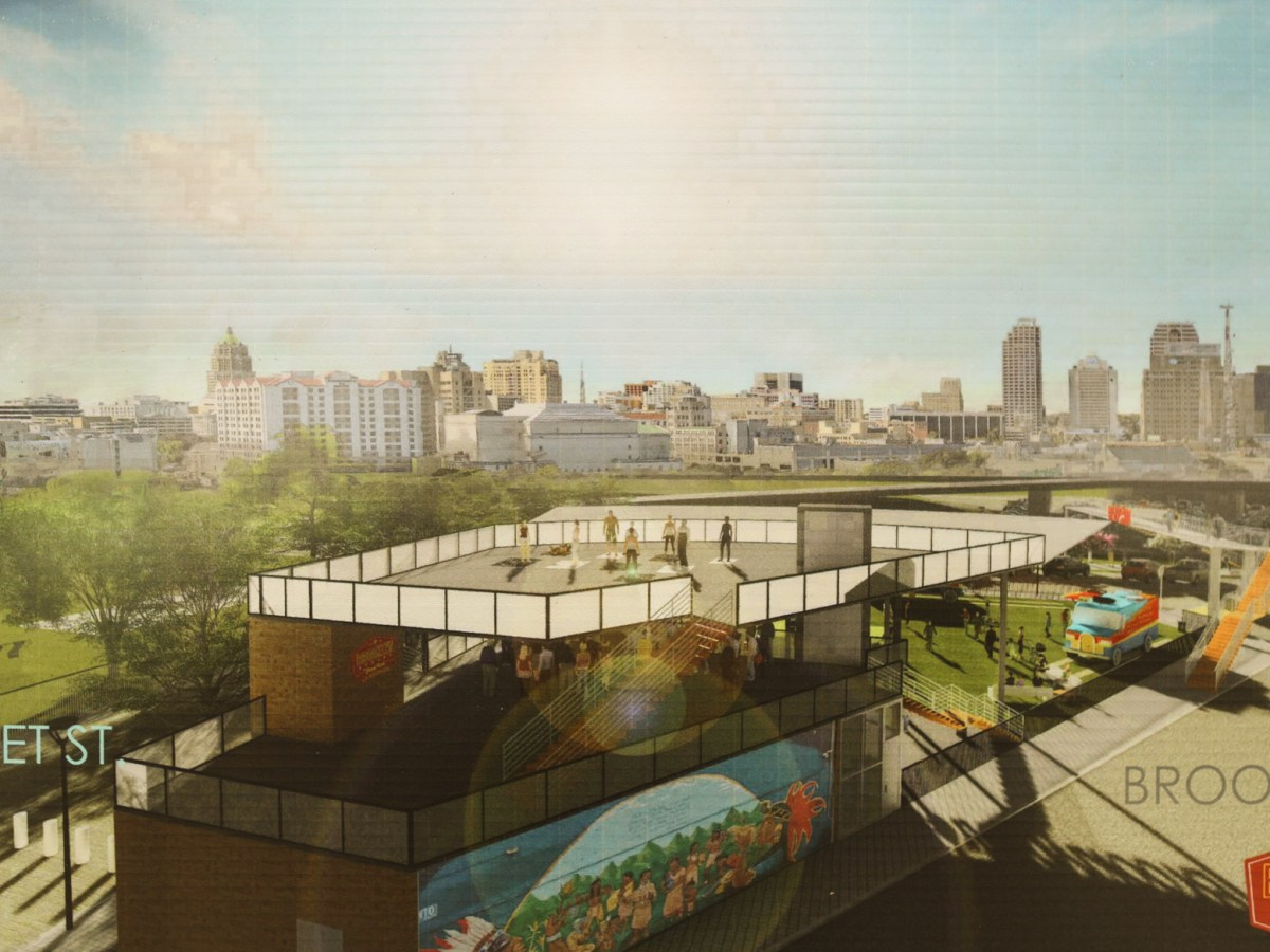 A rendering shows the vision for the Brooklyn Streat Food Park.