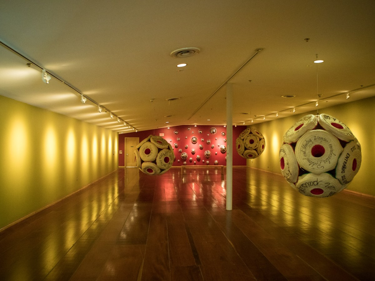 Betsabeé Romero's exhibition is displayed in Mexican Cultural Institute San Antonio.