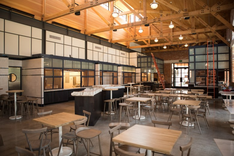 The food hall is a new addition to the Pearl, opening in July.