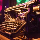An Underwood typewriter is displayed at the San Antonio Museum of Science and Technology.