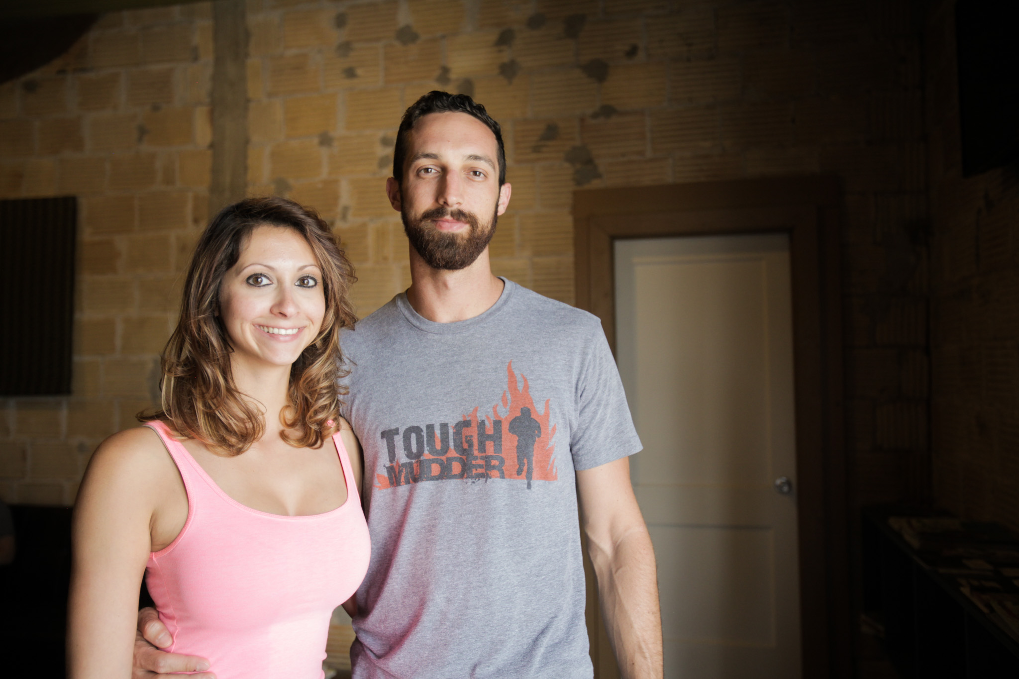 Founders Celina Garcia (left) and Brad Clawson stand in their new business Transcend.