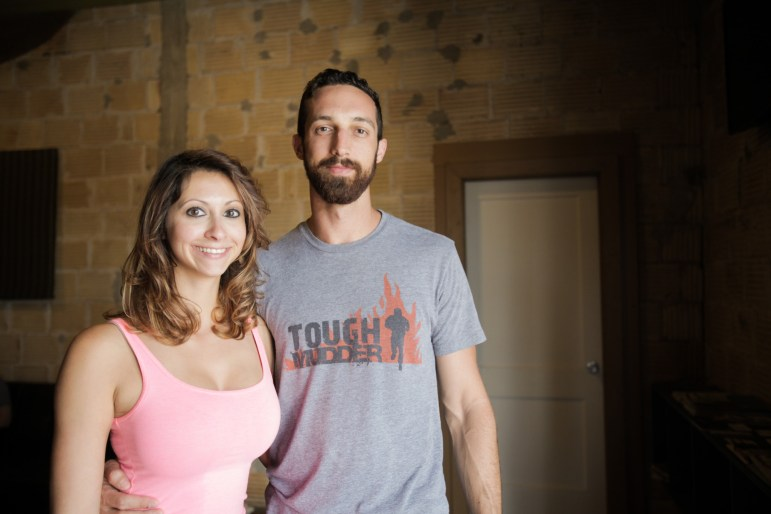 Founders Celina Garcia (left) and Brad Clawson stand in their new business Transcend SA.
