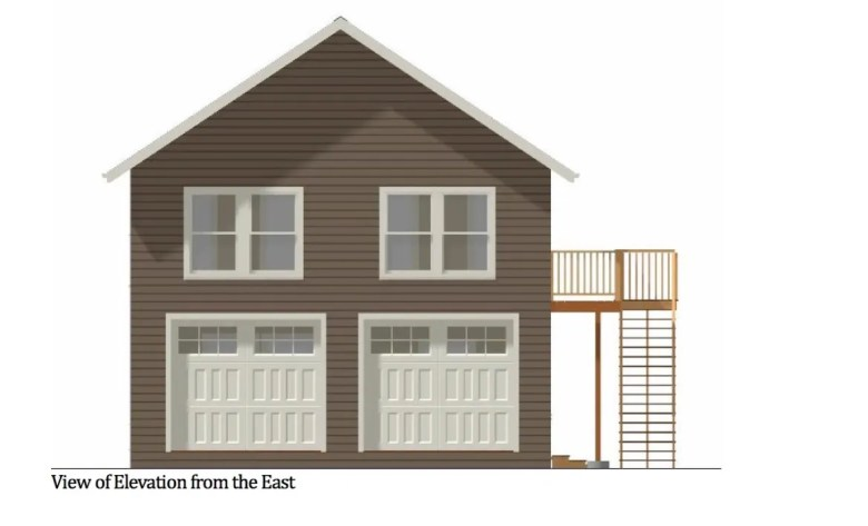 Proposal for a garage and apartment structure at 1115 Nolan St.