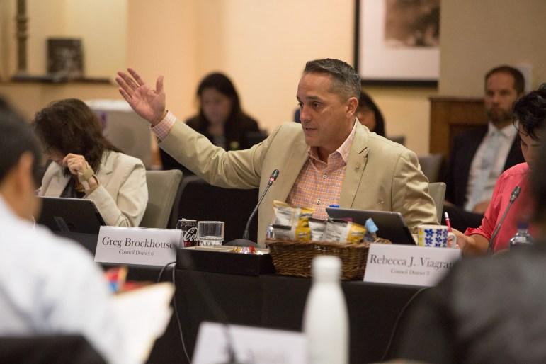 Councilman Greg Brockhouse (D6) dismisses the idea of implementing a transportation user fee.