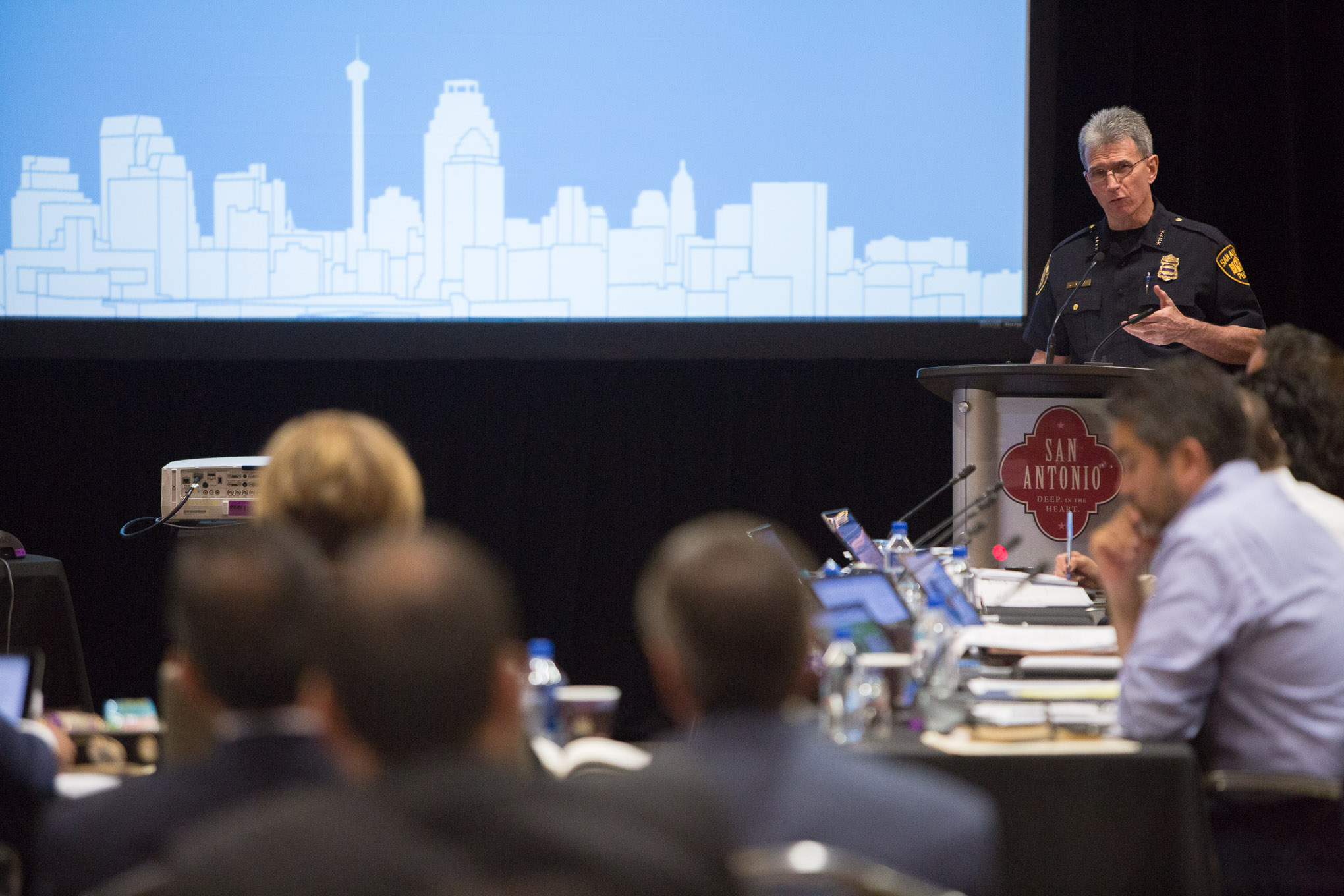 San Antonio Police Chief William McManus describes the efforts of the new Violent Crime Task Force.