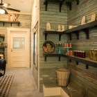 The walls of Outlaw Kitchens were hand-done by Co-Owner Peggy Howe.