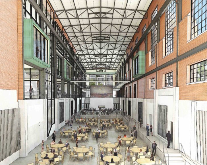 The old turbine hall at the former Mission Road power plant is being reimagined as a grand entrance/hall at the EPIcenter.