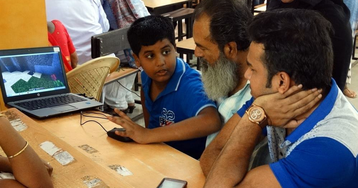 At a recent workshop, Mumbai residents sketched ideas for a public space in their neighborhood using the video game Minecraft.