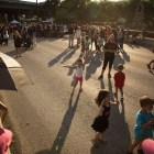 A large crowd gathers at the 5th Annual Bat Loco Bash.