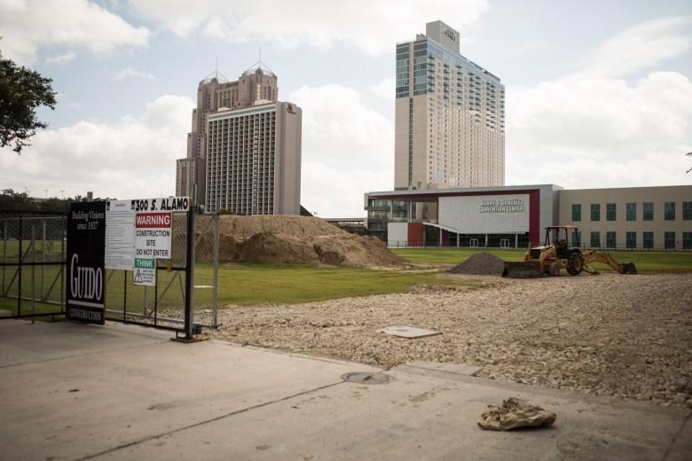 Hemisfair Civic Park is under construction.
