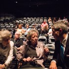 (From left) Marcia Nasatir, Rose Spector, and Mayor Ron Nirenberg chat before the San Antonio Film Festival awards ceremony.