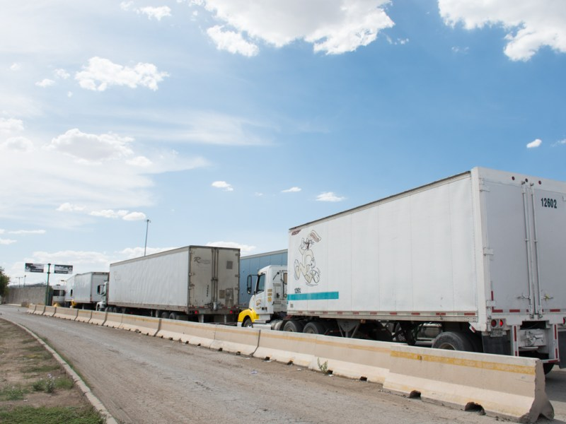 Incoming freight from Mexico heads to the United States via El Paso.