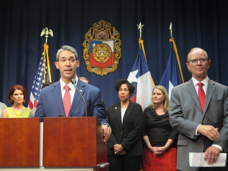 Mayor Ron Nirenberg announces the Mayor's Hurricane Relief Fund, one of many local initiatives to aid storm victims.
