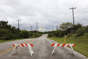 The City preemptively closed down a section of Pinn Road in anticipation of flooding.