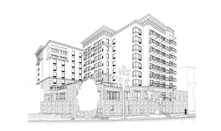The eight-story hotel by Hampton Inn and Suites/Home2 Suites by Hilton will replace the now-demolished Solo Serve building.