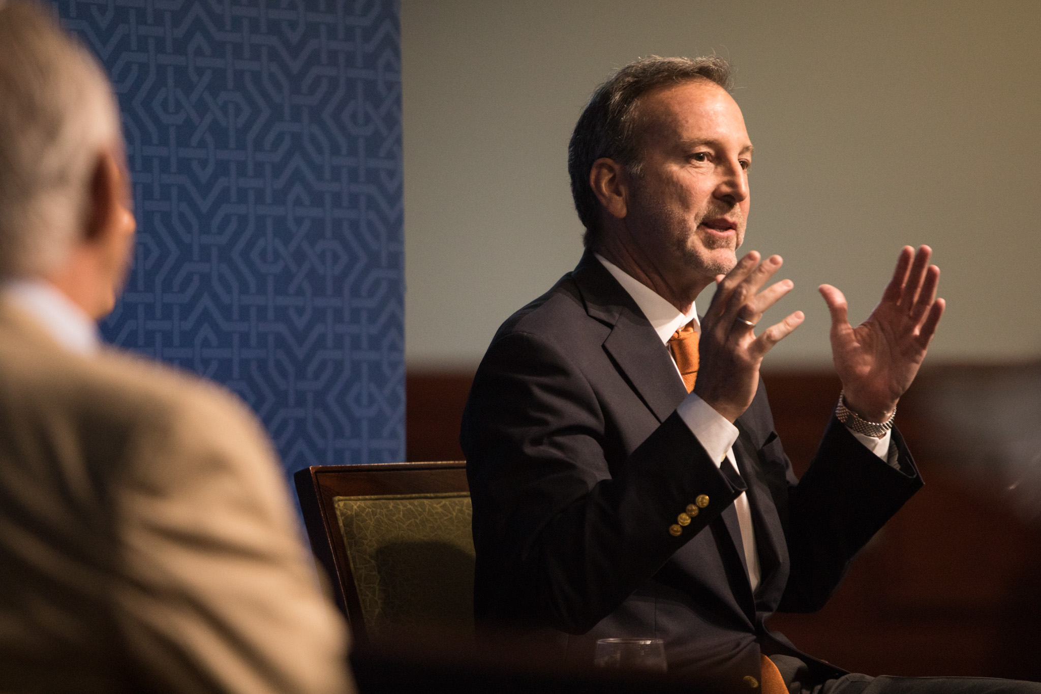 Former U.S. Ambassador to Mexico Tony Garza speaks in a panel at NAFTA 2.0: The Future of North American Trade at St. Mary's University.