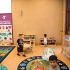 Children explore the new childcare room of the Harvey E. Najim Family YMCA.