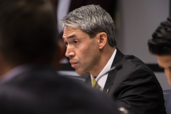 Mayor Ron Nirenberg asks for a clarification from City Manager Sheryl Sculley at B Session.