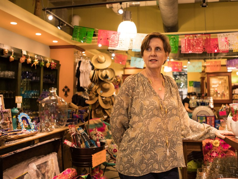 Melissa Guerra stands in her store Melissa Guerra: Latin Kitchen Market in the Pearl.