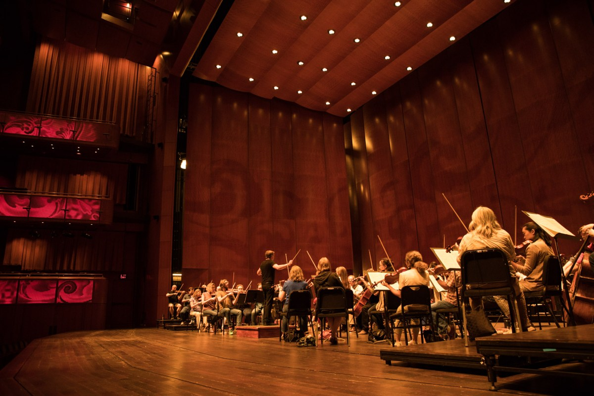 The San Antonio Symphony rehearses for an upcoming concert at the Tobin Center.
