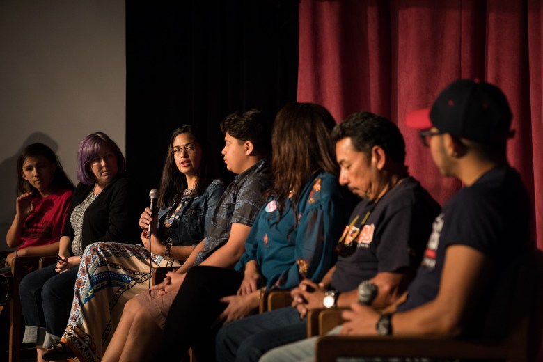 """A panel of parents and children talk about their experience with transgender identity at """"Son Tus Niños También: Trans Kids Back To School."""""""