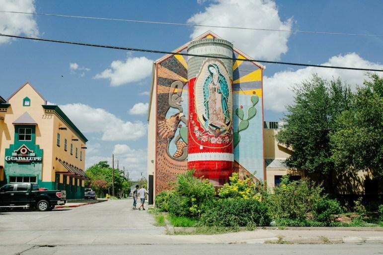 Guadalupe Theatre mural.