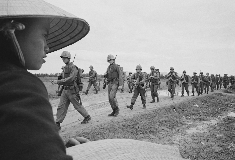 "A still from the documentary series ""The Vietnam War."""