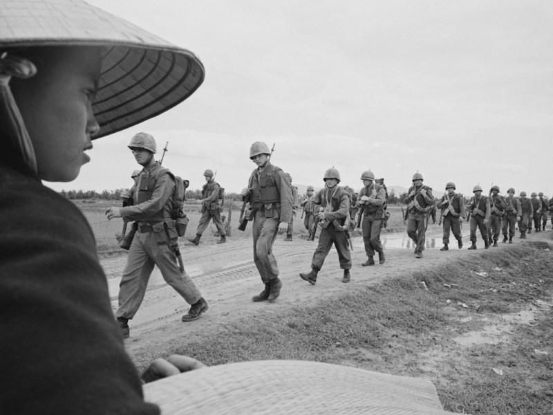 "A still from the documentary series ""The Vietnam War."""
