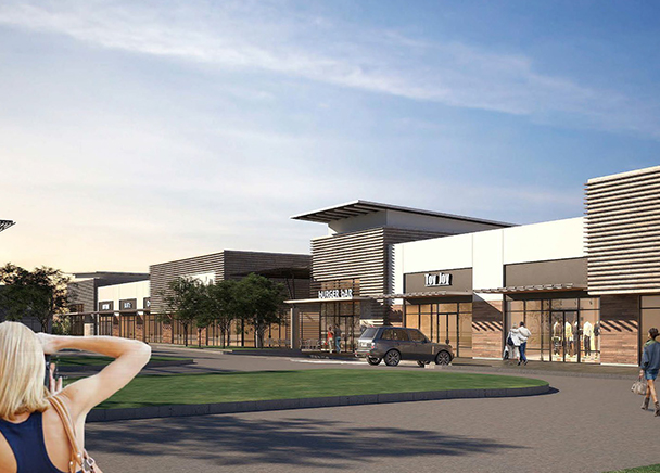 An exterior rendering of Lidl's first grocery store to open in San Antonio's Westside.