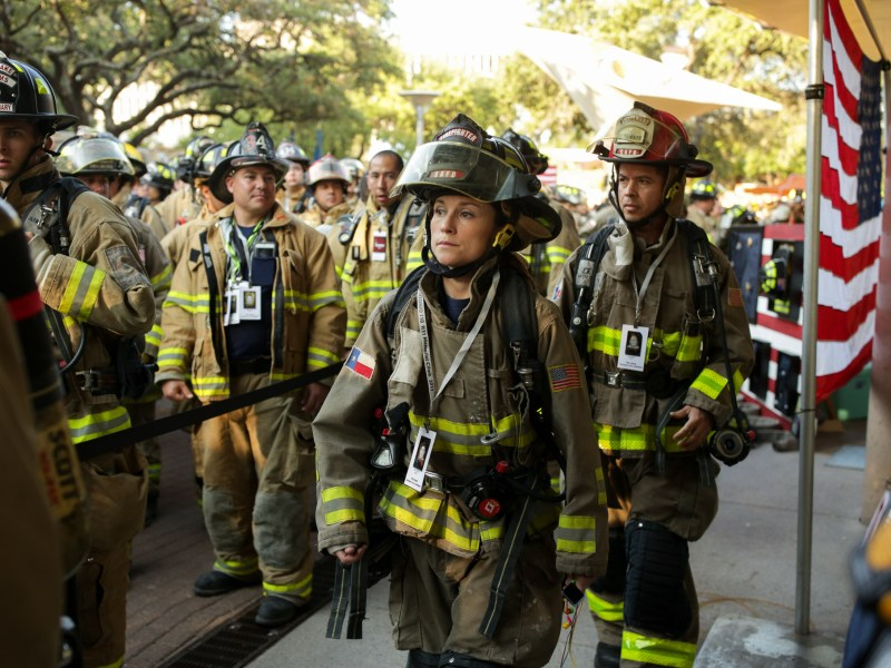 Members of SAFD Station 35 approach the front of the line.