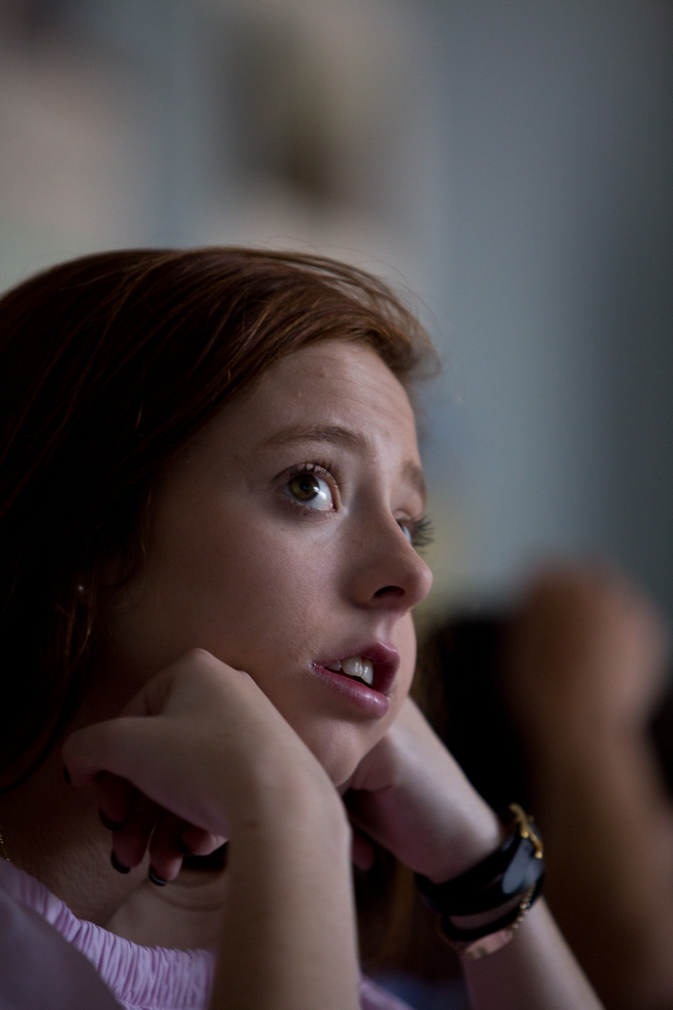 Issy West, 17 reacts during a video sharing a personal experience of the attacks on 9/11.