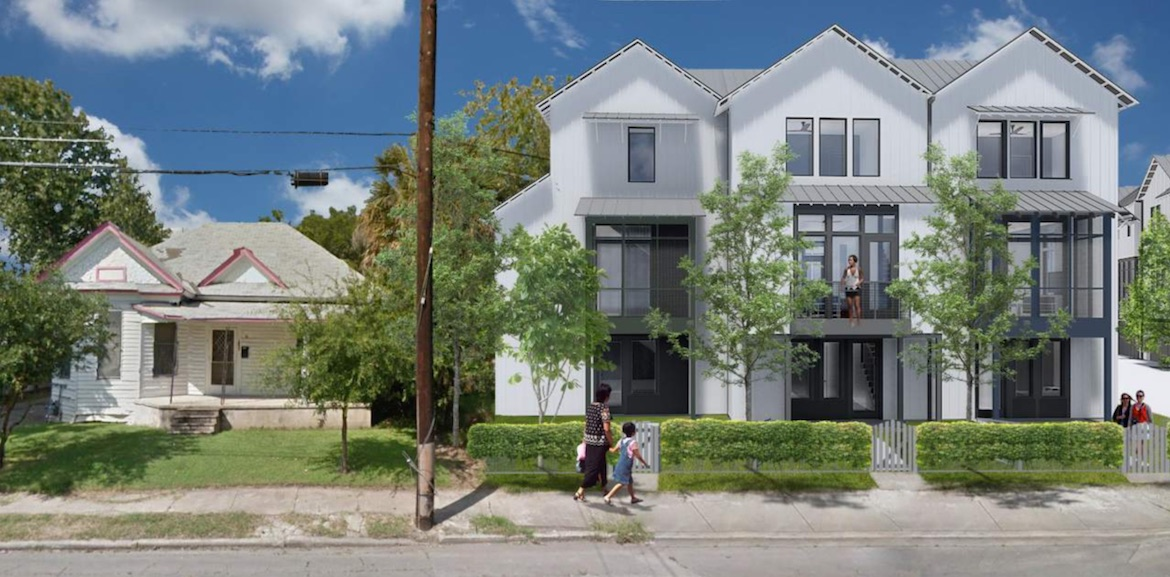 A rendering proposed for an approved project on the property of 1226 South Presa Street.