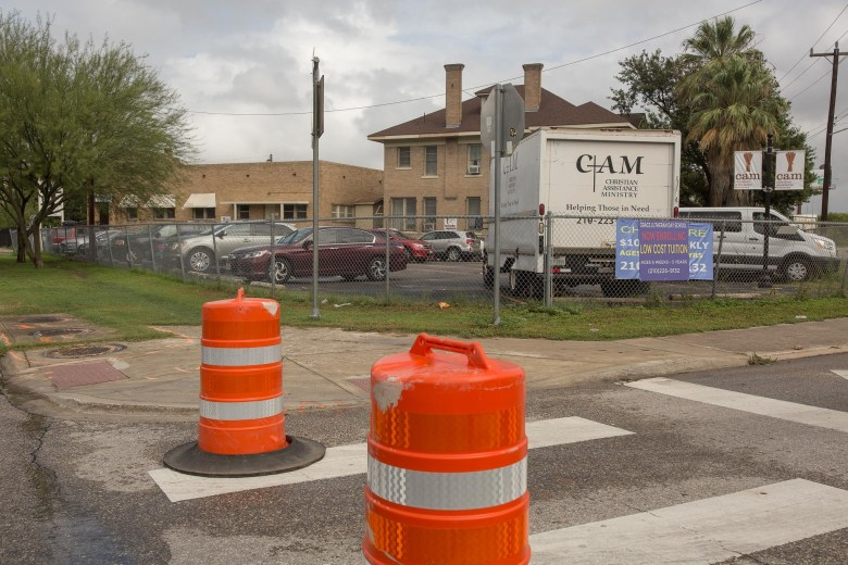 Construction, lack of sidewalks and heavy traffic surround's CAM on McCullough.