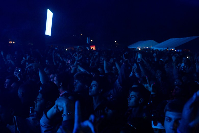 Festival attendees pack in front of the stage for the Wiz Khalifa performance.