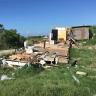 A house in Port Aransas is destroyed by Hurricane Harvey.