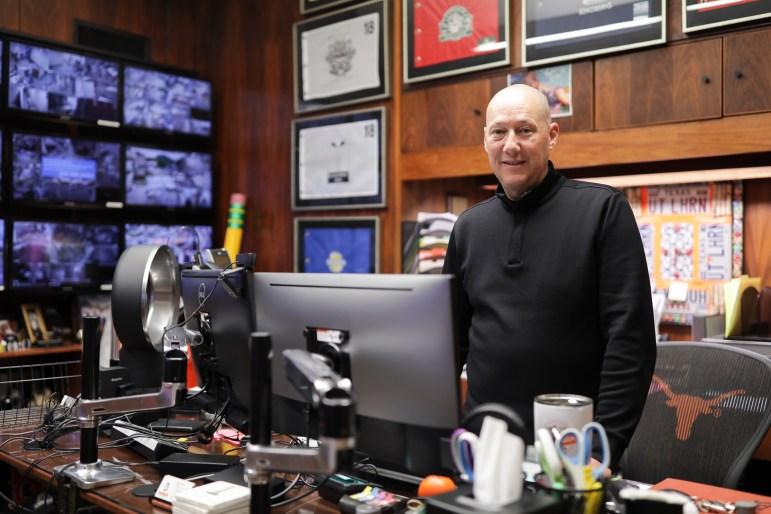 Brad Beldon in his office in San Antonio.