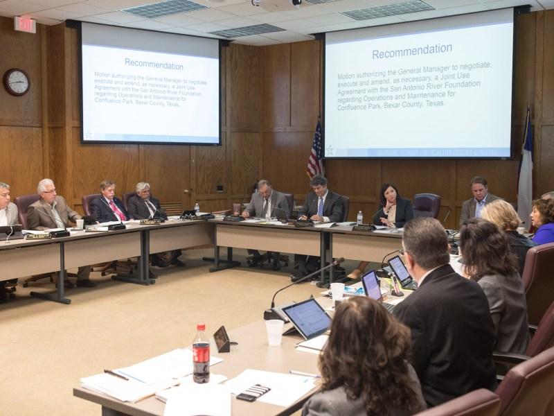 The San Antonio River Authority Board of Directors.