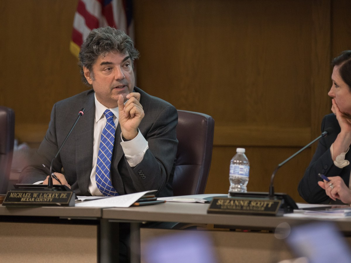 Michael Lackey is vice-chairman of the San Antonio River Authority Board and represents Bexar County's District 3 on the board.