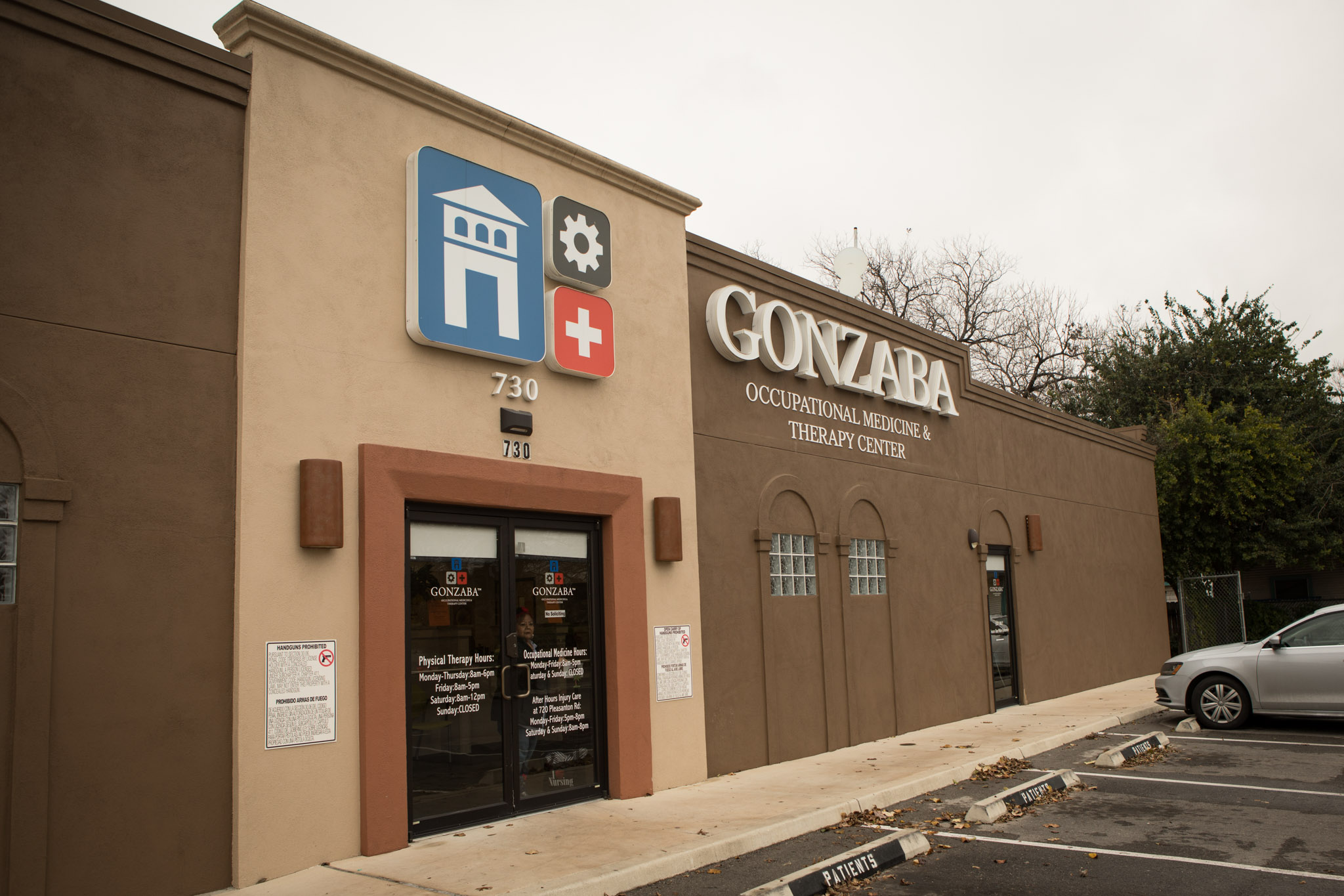 Gonzaba Occupational Medicine & Therapy Center is located at 730 Pleasanton Rd.
