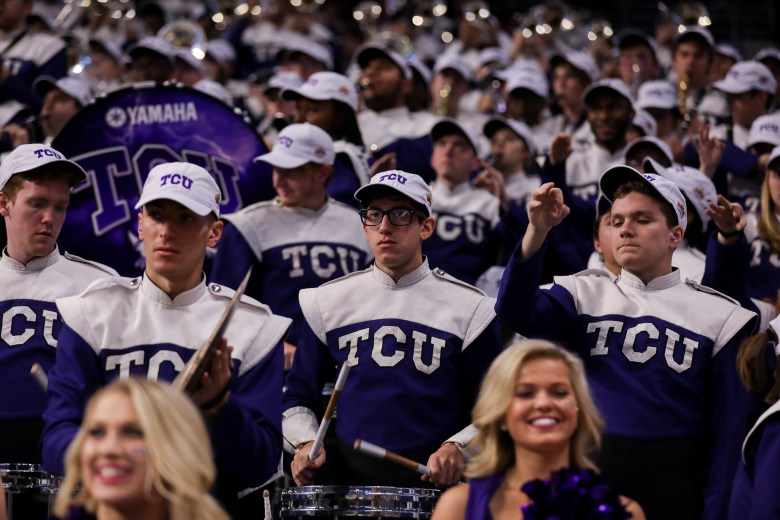 The TCU marching band performs a Star Wars themed song during gameplay.