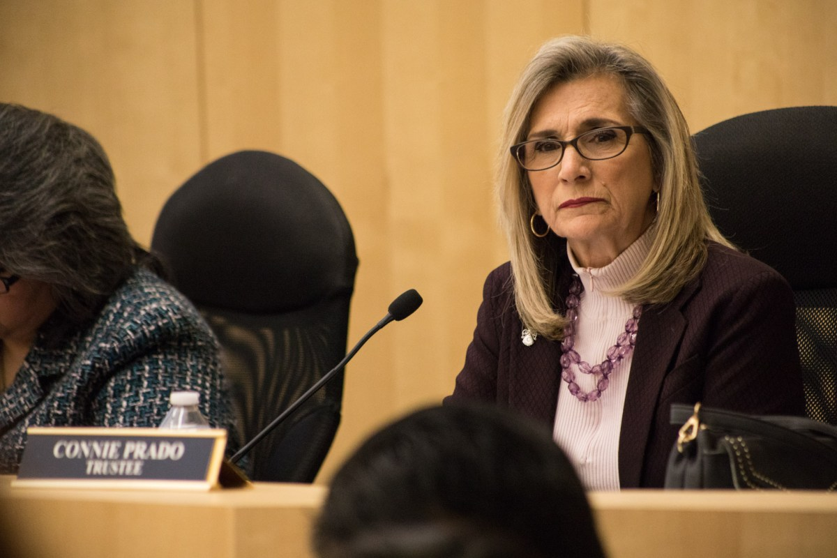 South San Antonio Independent School District Board President Connie Prado will continue to serve as a trustee while seeking election to the Alamo Colleges District board.