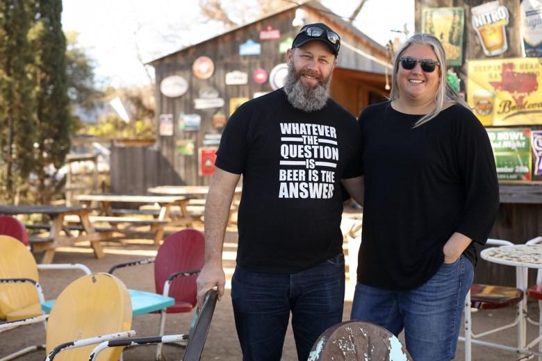 Steve and Jody Newman at the Friendly Spot on Alamo Street.