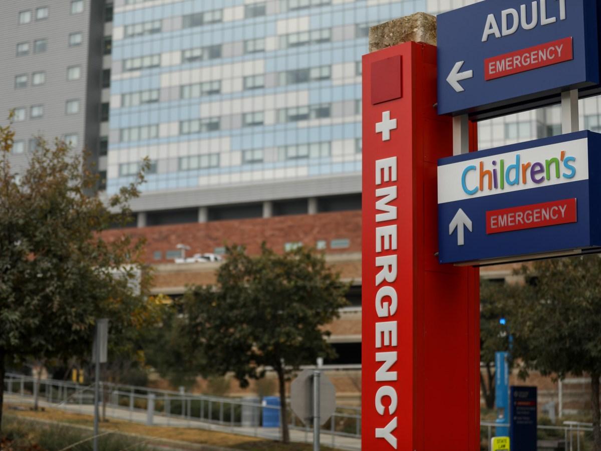 University Hospital emergency entrance.