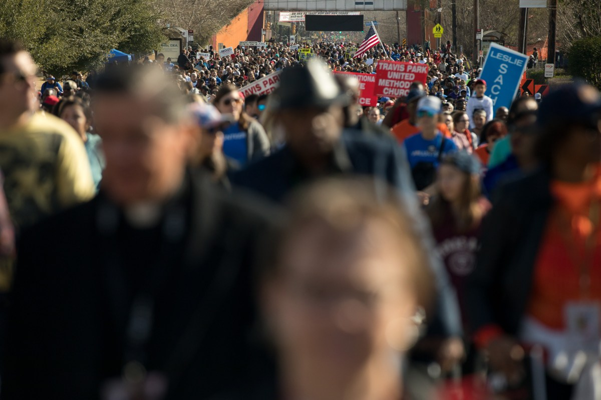 March participants fill Martin Luther King Drive.