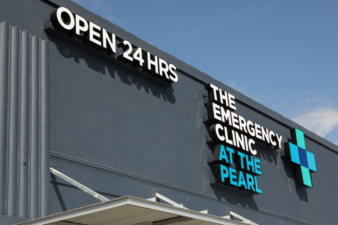 The Emergency Clinic at the Pearl is located at 2015 Broadway St.